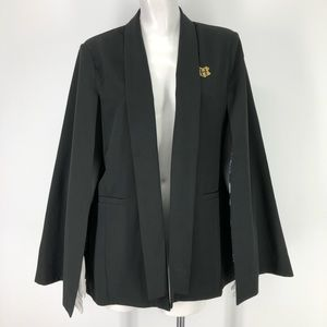 Harry Potter L Cape Blazer Jacket Hogwarts Black